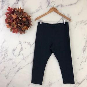 J. Jill Capri Leggings In Solid Black